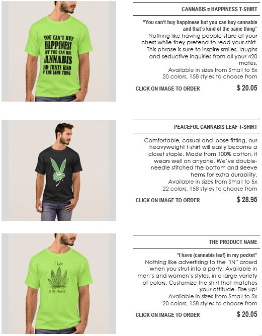 Shirts section page 1