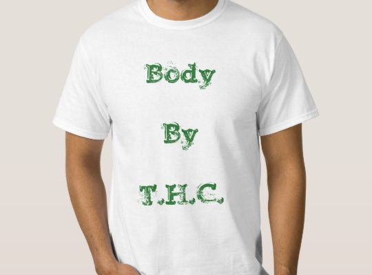 This version of the Body by THC shirt is available in most sizes for only $15! Click on the image to order or to customize the shirt