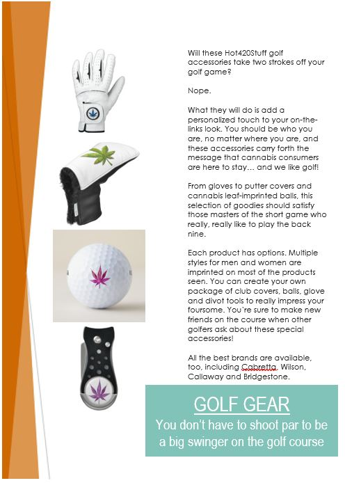 Golf items section cover